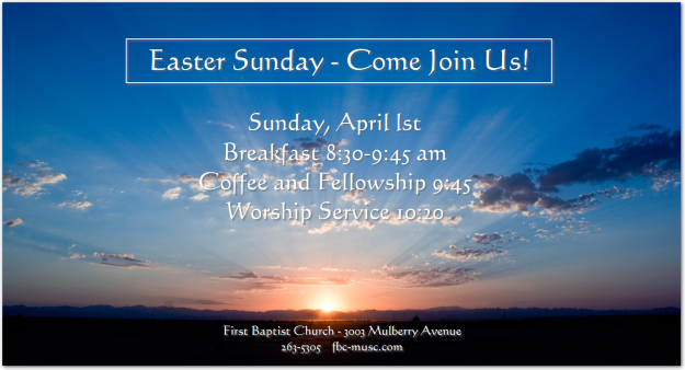 Easter Sunday Breakfast and Worship Service